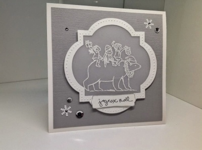 carte de Noël Stampin Up